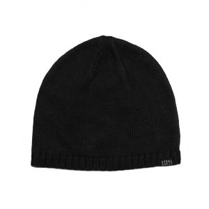 Plain Black Knitted Beanie Hat