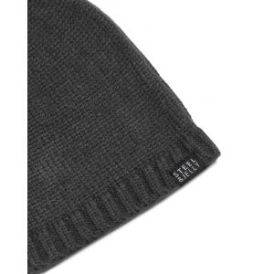 Plain Grey Knitted Beanie Hat
