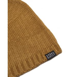 Plain Mustard Knitted Beanie Hat