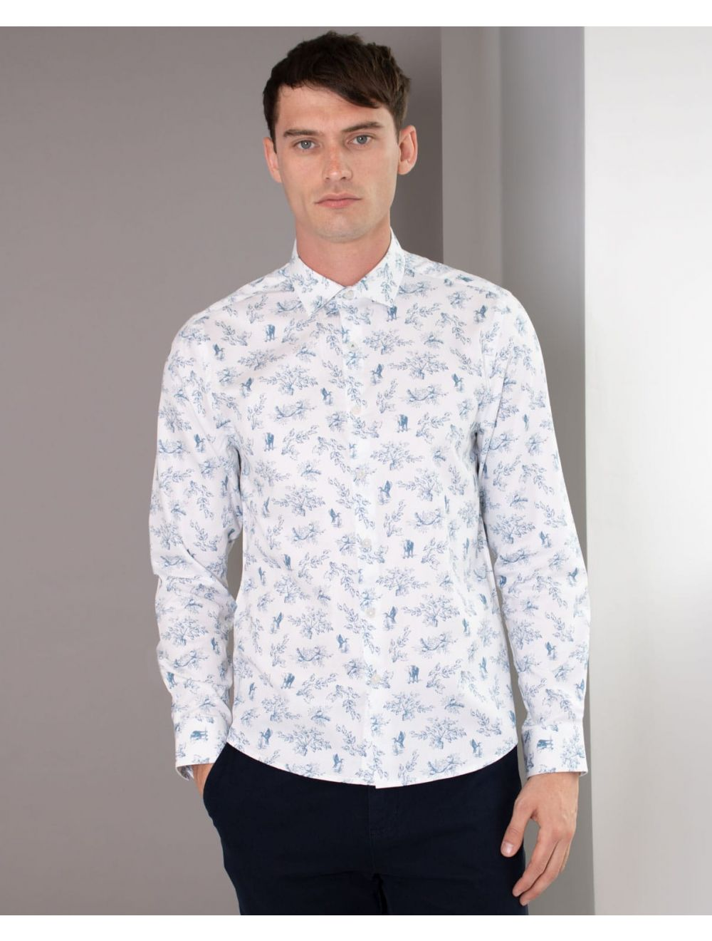 great discount sale shop for vivid and great in style Limited Edition Toile Animal Print Long Sleeve Shirt