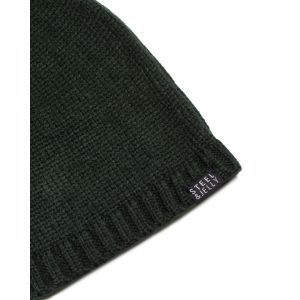 Plain Bottle Green Knitted Beanie Hat