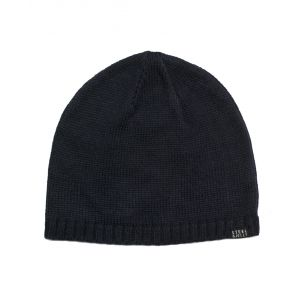 Plain Navy Knitted Beanie Hat