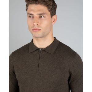 Brown Knitted Polo