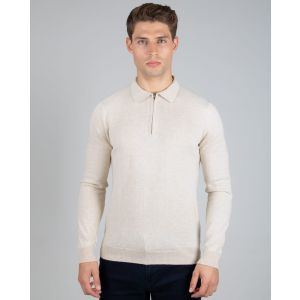 Oat Knitted Polo
