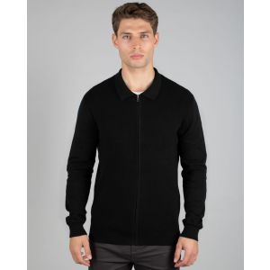 Black Knitted Bomber