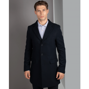 Navy Long Line Topcoat