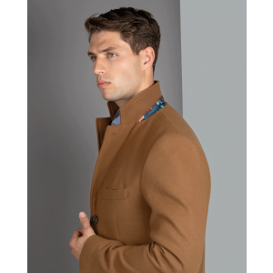 Camel Long Line Topcoat